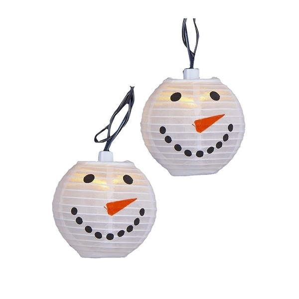 Snowman Head Lantern Christmas Light Set