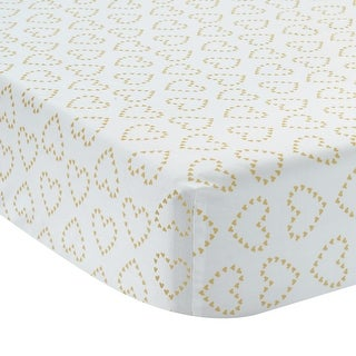 Lambs & Ivy Gold Confetti Fitted Crib Sheet