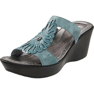 Naot Womens Fancy Patent Casual Wedge Sandals - 36