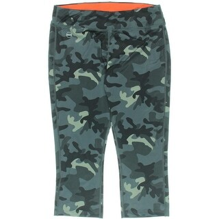 L-RL Lauren Active Womens Pants Camouflage Cropped