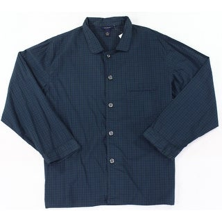 Club Room NEW Green Blue Mens Size XL Plaid Pocket Nightshirt Sleepwear