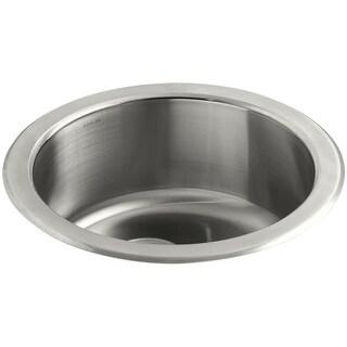"""Kohler K-3341 Undertone 18"""" Single Basin Under-Mount 18-Gauge Stainless Steel Kitchen Sink with SilentShield - STAINLESS STEEL"""