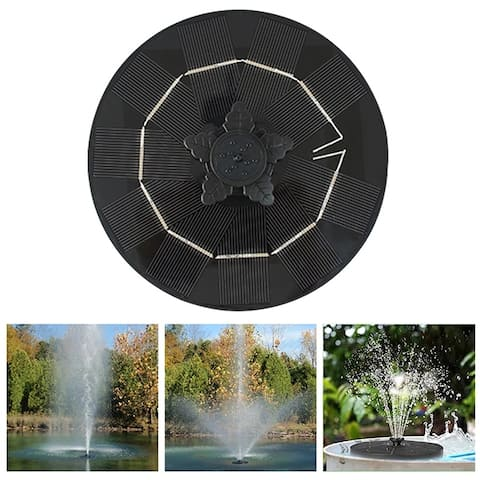 Rotating Solar Powered Fountain Adjustable 3 Gear Switching Fountain Floating Water Nozzle Garden Pool Decoration