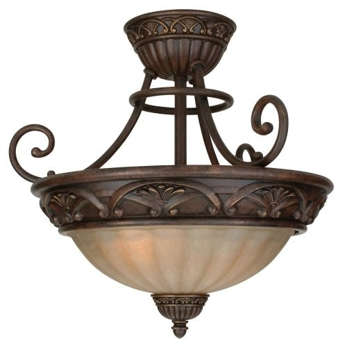 Craftmade X5813 Barcelona 2 Light Semi-Flush Ceiling Fixture