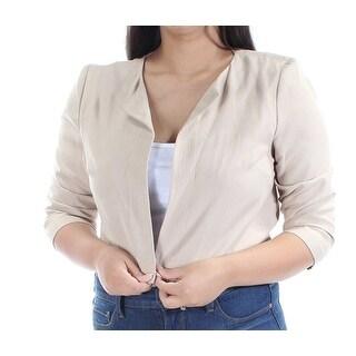 Womens Beige Casual Suit Jacket Size 12