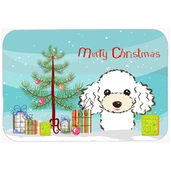 Carolines Treasures BB1629JMAT Christmas Tree & White Poodle Indoor or Outdoor Mat 24 x 36