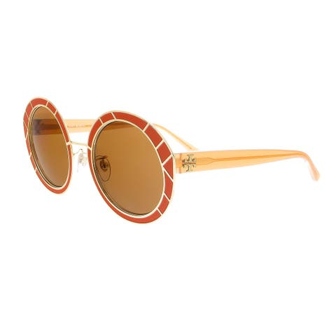 152460eec9f57 Tory Burch TY6062 326673 Gold Round Sunglasses - 51-23-145