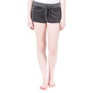 Juicy Couture Black Label Womens Velour Track Casual Shorts - XL