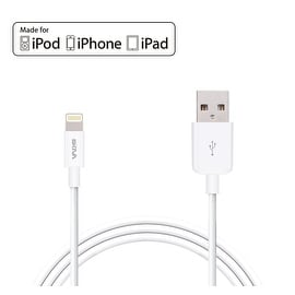 Skiva USBLink (3.2 ft / 1m) Apple MFi Certified 8-pin Lightning Sync and Charge Cable for iPhone 6s plus SE, iPad Air Pro mini