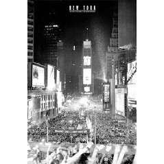 ''Times Square New Year's Eve'' by Jerry Driendl New York Art Print (36 x 24 in.)