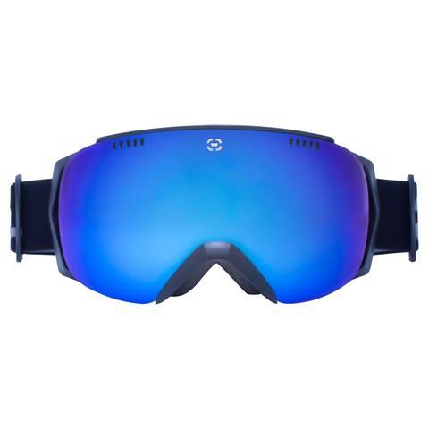 Winterial Black Ski Goggles, Ski, Snowboard, Snowmobile Goggles All Mountain, UV Protection, Black