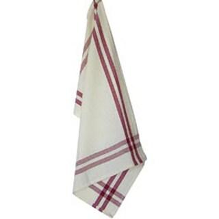 "Red Stripe - Cream Towel 20""X29"""