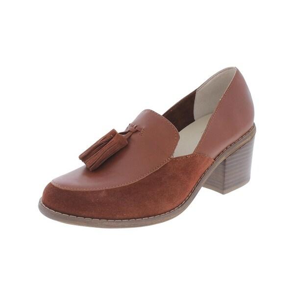 Seychelles Womens Descent Loafer Heels Suede Trim Tassel