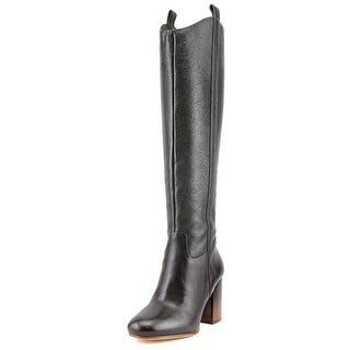 Via Spiga Babe Round Toe Leather Knee High Boot