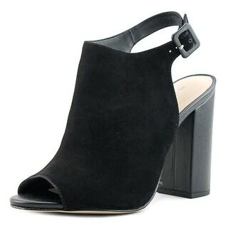 Aldo Juliusa Women Peep-Toe Suede Black Slingback Heel