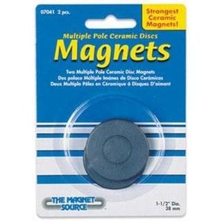 "Master Magnetics 07041 Ceramic Disc Magnets, 1-1/2"" x 3/16"", Pack-2"