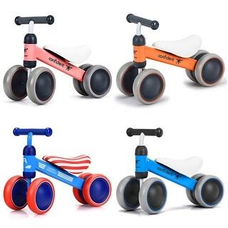 4 Wheels Kids Balance Bikes No Pedal Children Walker Toys 18-36 Months