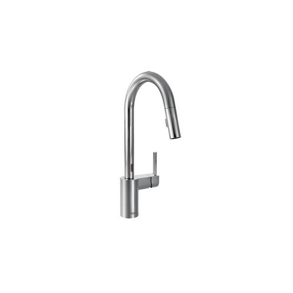 Moen Motionsense Kitchen Faucet: Shop Moen 7565E Align Metal Touchless Pullout Spray High