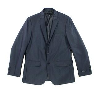 INC NEW Blue Mens Size XL Classic Herringbone Two Button Blazer Jacket