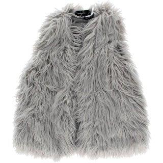 Minkpink Womens Endless Shaggy Faux Fur Casual Vest - m/l