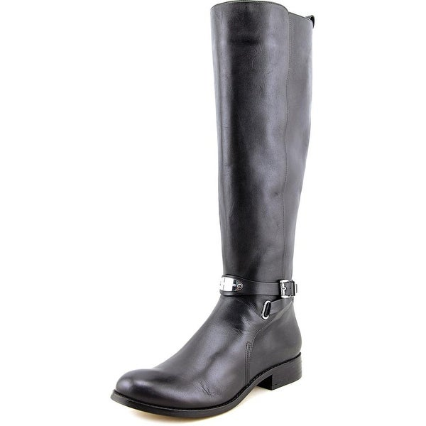 Michael Michael Kors Arley Riding Boot Women Leather Black Knee High Boot