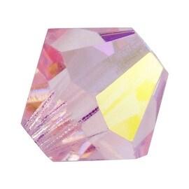 Preciosa Czech Crystal 4mm Bicone Beads Light Rose AB (50)