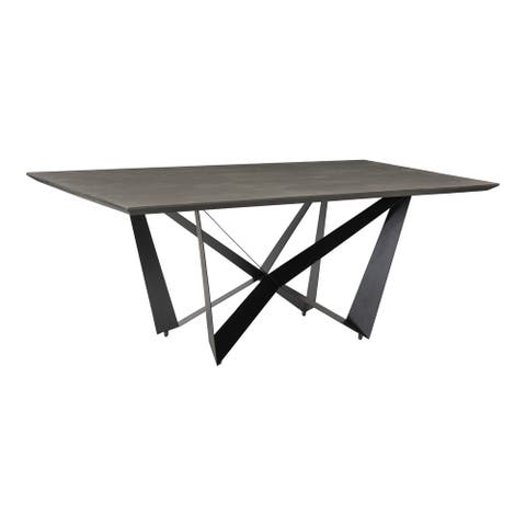 Aurelle Home Brock Modern Mango Wood Rectangular Dining Table