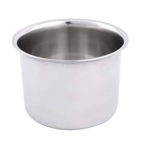 Stainless Steel Round Shaped Soup Multifuction Kitchen Bowl Container 12cm Dia