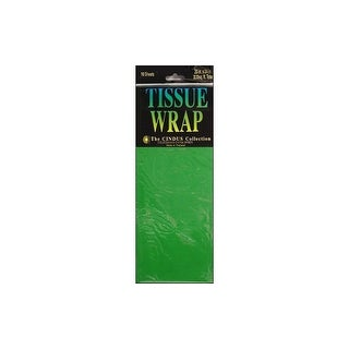Cindus Tissue Wrap 20x20 10pc Solid Emerald Green