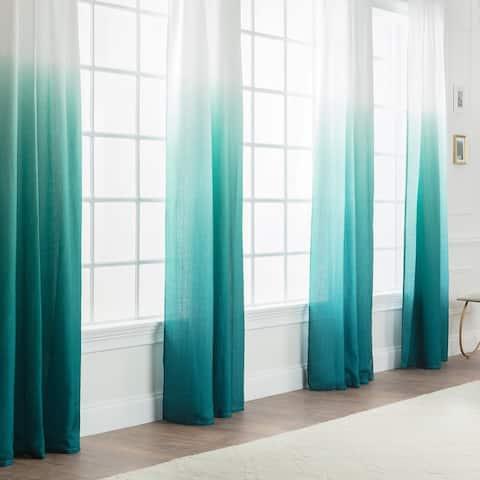 Chanasya Ombre Gradient Semi-Sheer Window Curtain Panel Pair