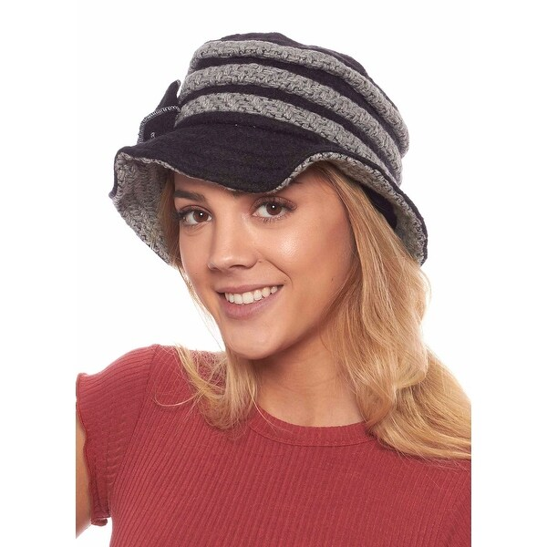 Jean Louise Wool Blend Winter Cloche Bucket Hat