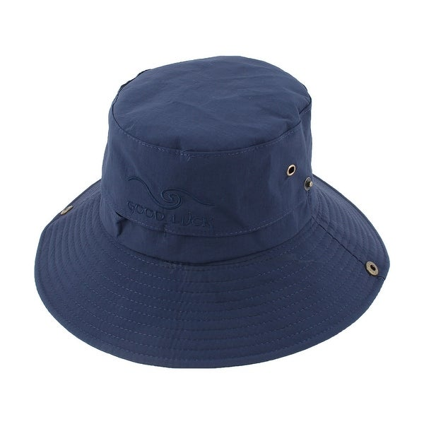 e8e5e4f0440 Outdoor Sports Hiking Mesh Wide Brim Protector Summer Cap Fishing Hat Navy  Blue