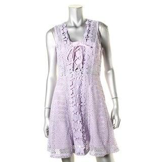 Aqua Womens Evening Dress Pointelle Criss-Cross Front