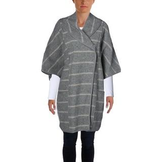 Free People Womens Poncho Wool Striped