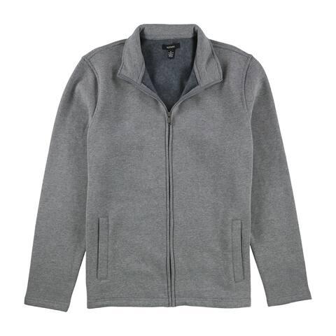 Alfani Mens Mock Neck Sweatshirt, Grey, Medium