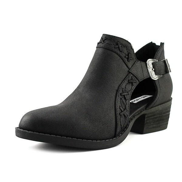 Not Rated Kikki Women Round Toe Leather Black Bootie