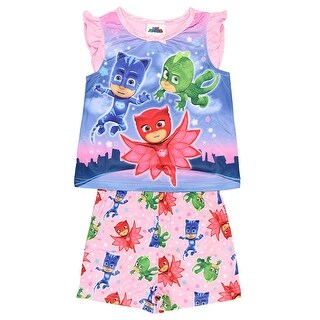 PJ Masks Toddler Girls' Heroic 2-Piece Pajama Set Disney Junior TV