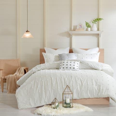 Urban Habitat Maize Cotton Jacquard Comforter Set