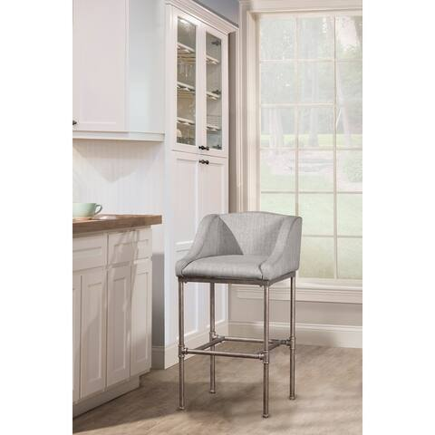"""Hillsdale Furniture Dillion Non-swivel Counter Stool - 35.25H x 20.625W x 21.5D with 26"""" Seat Height"""