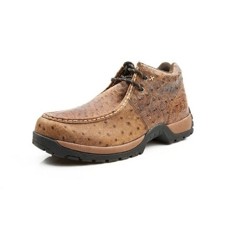 Roper Western Shoes Mens Ostrich Lace Up Brown 09-020-1654-1559 BR