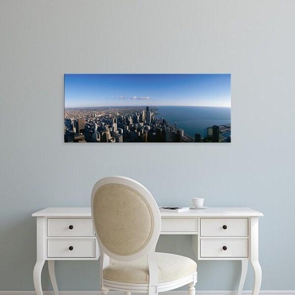 Easy Art Prints Panoramic Images's 'Chicago skyline' Premium Canvas Art