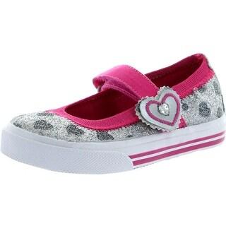 Keds Girls Shimmer Fashion Flats Shoes - Silver - 7 m us toddler