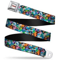 Adventure Time Logo White Full Color Adventure Time Multi Character Comic Seatbelt Belt