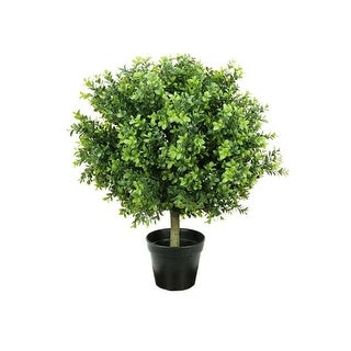 "24"" Potted Two-Tone Artificial Murraya Ball Topiary Tree"