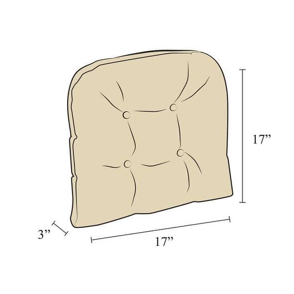 Polar Chocolate Xl Universal Chair Pad Set Of 2 Overstock 10218853