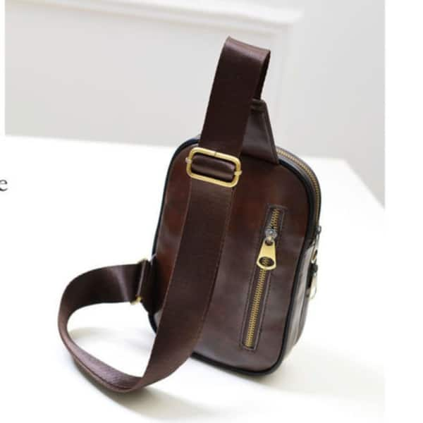 261eaee2e52 Shop Men'S Accessories Leather Chest Cycle Sling Pack Satchel ...