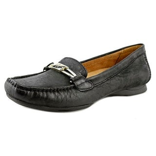 Naturalizer Saturday Women N/S Square Toe Leather Black Loafer