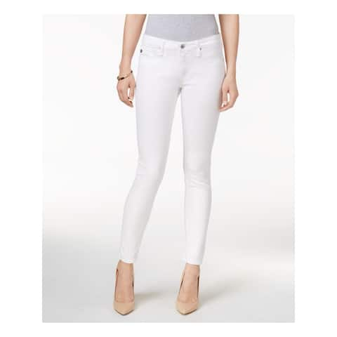 ADRIANO GOLDSCHMIED Womens White Solid Skinny Jeans Size 32 Waist