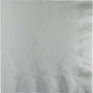 """Club Pack of 250 Shimmering Silver Premium 3-Ply Disposable Dinner Party Napkins 8.75"""""""
