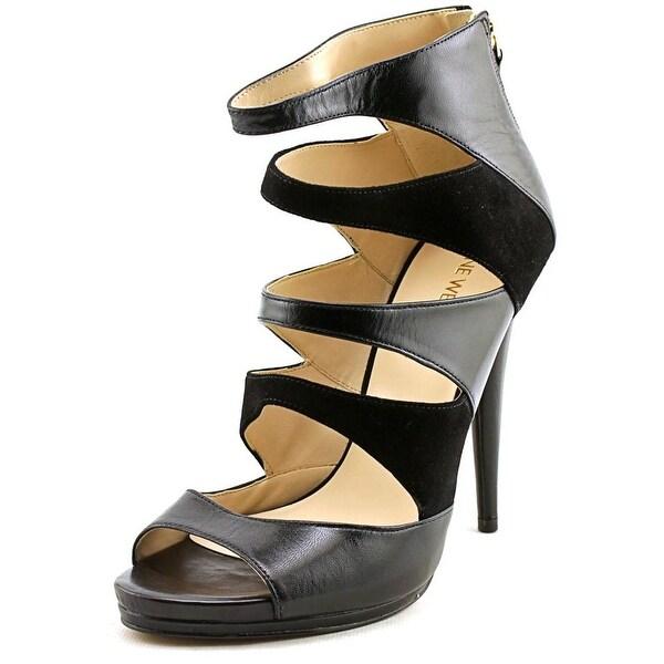 Nine West Amability Women Open Toe Leather Black Sandals
